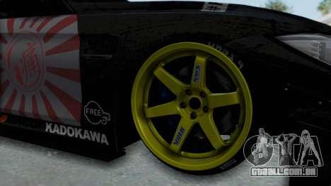 BMW M4 Kurumi Itasha para GTA San Andreas vista traseira