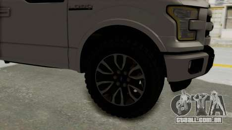 Ford Lobo XLT 2015 Single Cab para GTA San Andreas vista traseira