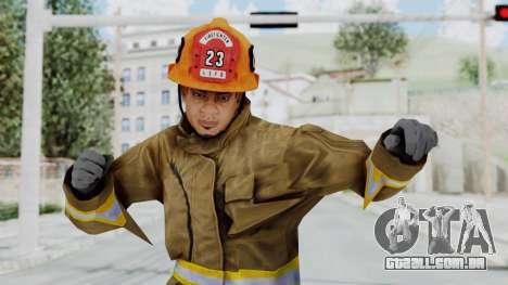 GTA 5 Fireman LS para GTA San Andreas