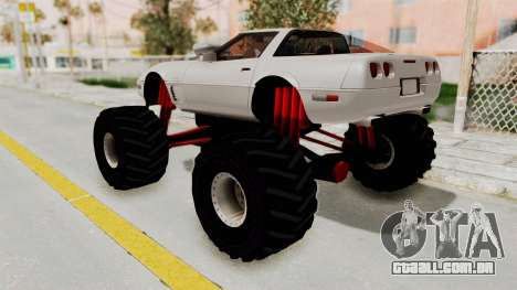 Chevrolet Corvette C4 Monster Truck para GTA San Andreas vista direita