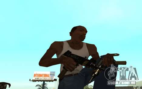 Golden weapon pack para GTA San Andreas quinto tela
