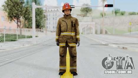 GTA 5 Fireman LS para GTA San Andreas segunda tela