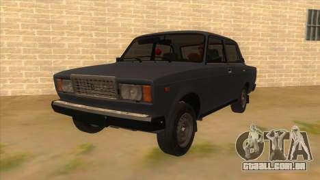 VAZ 2107 RÚSSIA para GTA San Andreas