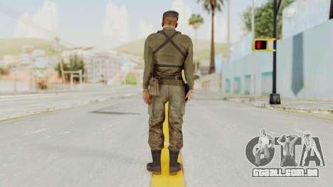 MGSV Phantom Pain Rogue Coyote Soldier Shirt v2 para GTA San Andreas terceira tela