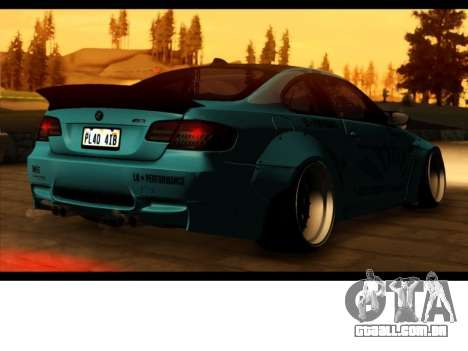 BMW M3 E92 Liberdade Pé LB Desempenho para GTA San Andreas esquerda vista