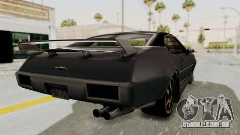 Clover Tunable para GTA San Andreas traseira esquerda vista