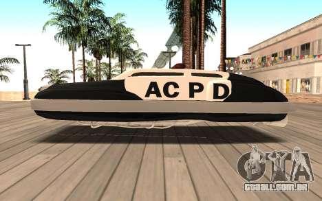 Flying Police para GTA San Andreas esquerda vista