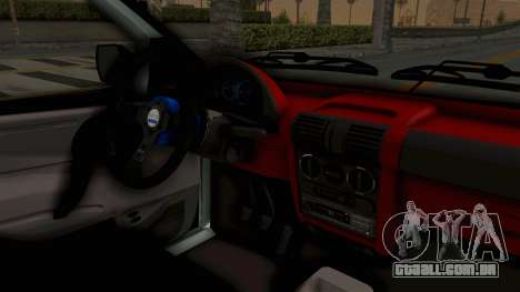 Chevrolet Corsa Wagon Tuning para GTA San Andreas vista interior