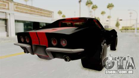 Chevrolet Corvette Stingray C3 1968 Drag para GTA San Andreas esquerda vista