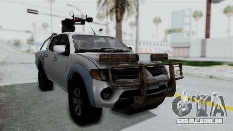 Mitsubishi L200 Army Libyan para GTA San Andreas vista direita