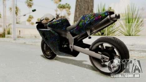 FCR-900 Stunt para GTA San Andreas esquerda vista