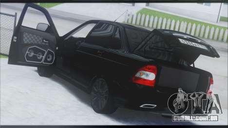 Lada Priora Sedan para GTA San Andreas vista direita