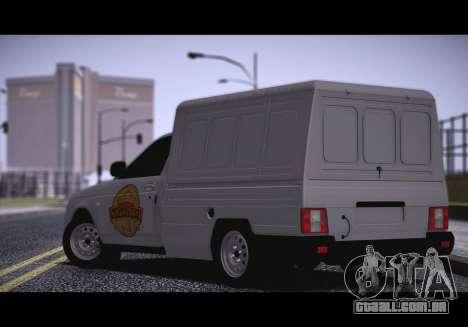 Lada Priora Stok Budka para GTA San Andreas esquerda vista