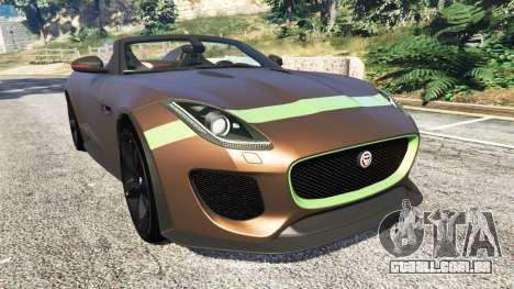 Jaguar F-Type Project 7 2016 para GTA 5