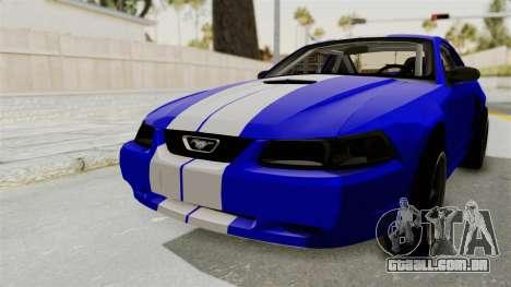 Ford Mustang 1999 Drag para GTA San Andreas traseira esquerda vista