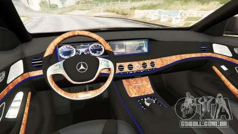GTA 5 Mercedes-Benz S500 traseira direita vista lateral