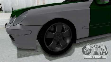 Mercedes-Benz E500 Police para GTA San Andreas vista traseira