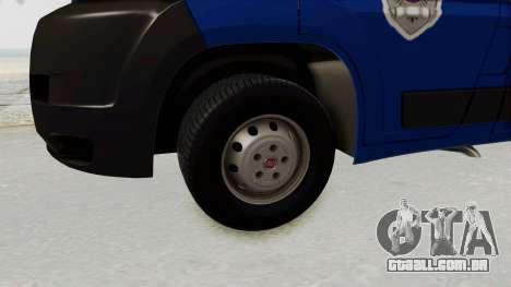 Fiat Ducato Police para GTA San Andreas vista traseira