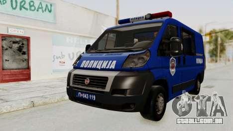 Fiat Ducato Police para GTA San Andreas vista direita