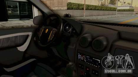 Dacia Logan Facelift Stance para GTA San Andreas vista interior
