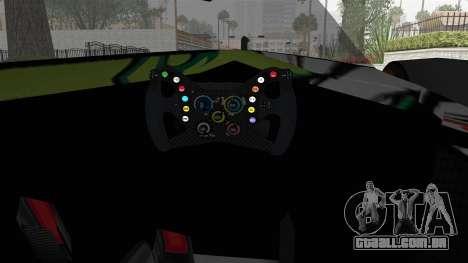 Bad to the Blade from Hot Wheels para GTA San Andreas vista interior
