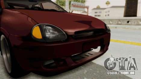 Chevrolet Corsa Hatchback Tuning v1 para GTA San Andreas vista superior