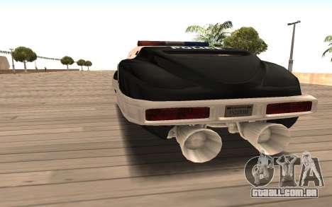 Flying Police para GTA San Andreas traseira esquerda vista