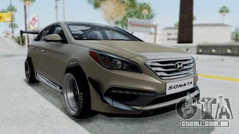 Hyundai Sonata LF 2.0T 2015 v1.0 Rocket Bunny para GTA San Andreas vista direita