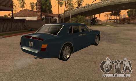 Rolls Royce Phantom para GTA San Andreas esquerda vista