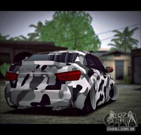 Lada Vesta Camouflage para GTA San Andreas esquerda vista