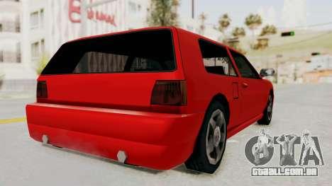 Flash Sport para GTA San Andreas esquerda vista