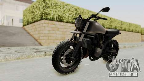 Mad Max Inspiration Bike para GTA San Andreas traseira esquerda vista