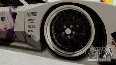 Mazda RX-7 FC Itasha para GTA San Andreas vista traseira