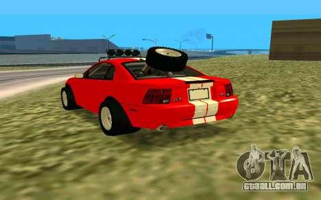 Ford Mustang 1999 para GTA San Andreas esquerda vista