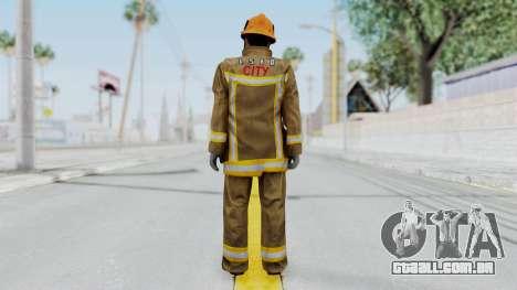 GTA 5 Fireman LS para GTA San Andreas terceira tela