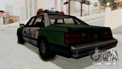 GTA VC Police Car para GTA San Andreas vista direita
