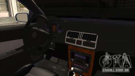 Volkswagen Bora 1.8T para GTA San Andreas vista interior