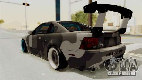Ford Mustang 1999 Drift para GTA San Andreas traseira esquerda vista