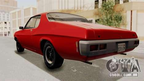 Holden Monaro GTS 1971 SA Plate HQLM para GTA San Andreas vista direita