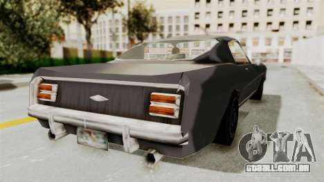 Dominator Classic para GTA San Andreas traseira esquerda vista