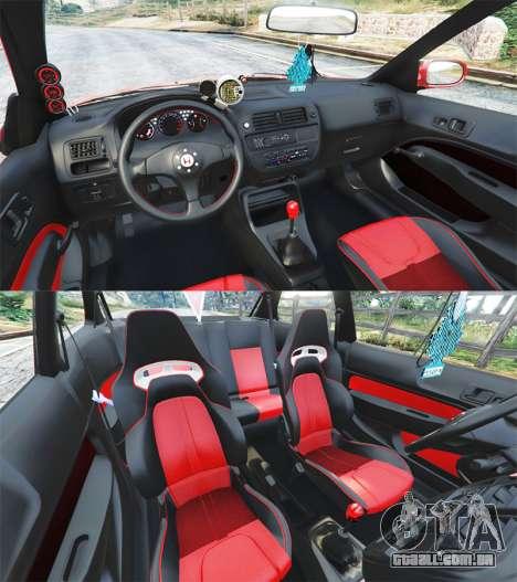 GTA 5 Honda Civic traseira direita vista lateral