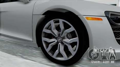 Audi R8 V10 2010 para GTA San Andreas vista traseira