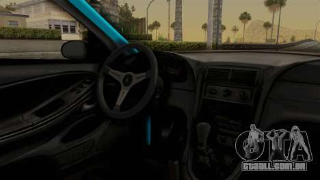 Ford Mustang 1999 Drift para GTA San Andreas vista interior