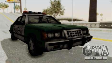 GTA VC Police Car para GTA San Andreas traseira esquerda vista