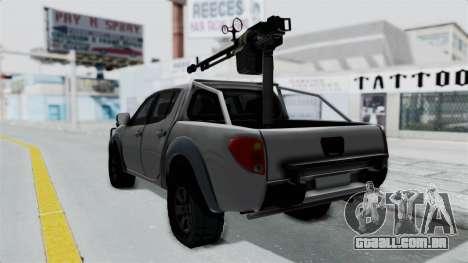 Mitsubishi L200 Army Libyan para GTA San Andreas esquerda vista