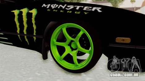 Nissan 240SX Drift Monster Energy Falken para GTA San Andreas vista traseira