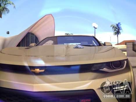 Chevrolet Camaro SS 2016 para GTA San Andreas vista traseira