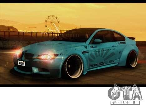 BMW M3 E92 Liberdade Pé LB Desempenho para GTA San Andreas traseira esquerda vista
