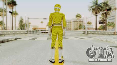 Power Rangers Lightspeed Rescue - Yellow para GTA San Andreas terceira tela