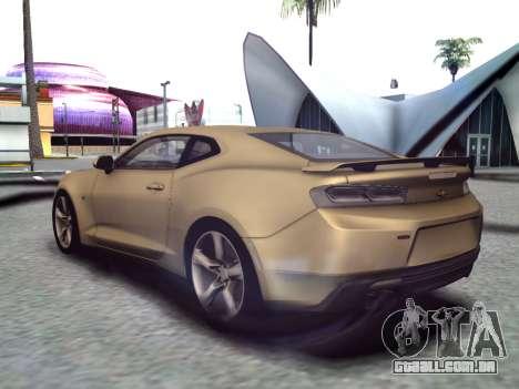 Chevrolet Camaro SS 2016 para GTA San Andreas traseira esquerda vista